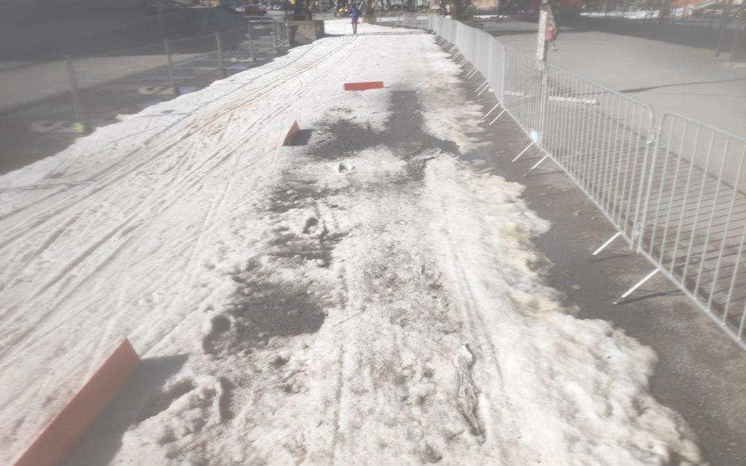 Podmínky nám nepřejí, sníh mizí